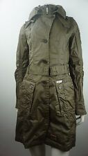 KHUJO Mantel ANY - Damen Trenchcoat - Gr. L - Olive - Designer Marken Jacke