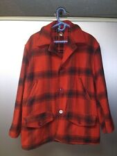 Vintage J.C. Higgins Sears Roebuck Mackinaw Plaid Heavy Wool Jacket Size 44
