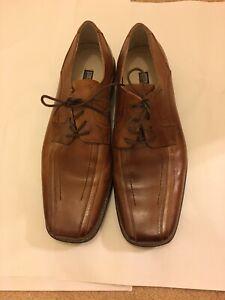 Men's STACY ADAMS Dress Shoes Leather upper camel color laceup Sz 10.5m