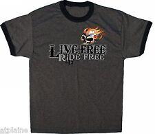 T-Shirt MC LIVE FREE SKULL - Taille XL - Style BIKER HARLEY