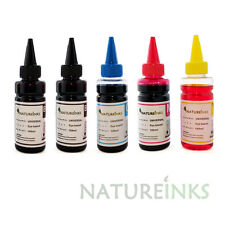 5 Universal Printer Refill Ink dye Bottles for CISS or Refillable Cartridge