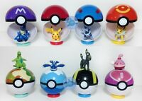 9 Pokemon pokeball-up 7cm Cartoon Toy balle en plastique monstre Pikachu IY