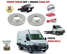 FOR IVECO DAILY 60C15V 60C17V 65C17 60C14 2006-> FRONT BRAKE DISC SET + PADS KIT