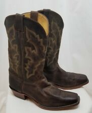 JUSTIN MEN'S PUNCHY WESTERN LEATHER COWBOY BOOTS #2680 BROWN SIZE 13 D NEW! $260