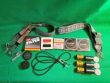 Lot Film Camera Accessories 35mm Film, Filters, Lens Caps +