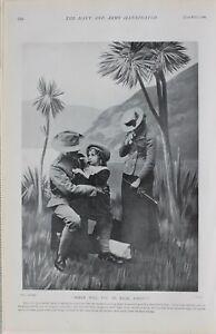 1900 Imprimé Queenland Troupe Leaving Famille Pour Avant