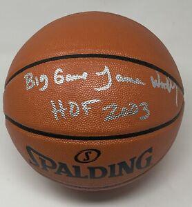 "James Worthy Autographed NBA Basketball W/ ""Big Game"" ""HOF 2003"" Inscriptions"