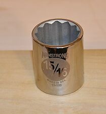 15/16 inch SAE  Armstrong USA 1/2 inch Drive 12 point  Socket Free Shipping
