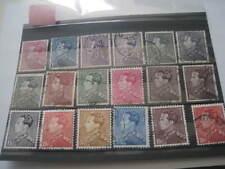lot de timbres oblitérés de 1939-1946. Léopold III type Poortman