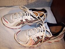 Asics Gel-Kayano 12 sz 8.5 White Platinum Raspberry Running Shoes TN650