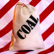 Bag of Coal Christmas Gag Gift Lump of Coal Xmas Stocking stuffer