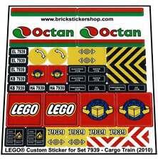 Precut Custom Replacement Stickers voor Lego Set 7939 - Cargo Train (2010)