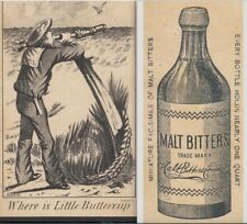 H.M.S. Pinafore Buttercup Gilbert & Sullivan Malt Bitters Advertising Trade Card