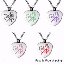 Always in My Heart Cremation Jewelry Keepsake Memorial Ash Urn Holder Necklace