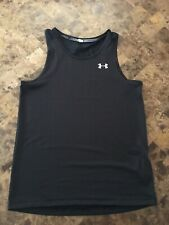 Men's Under Armour Black Sleeveless Threadborne Activewear