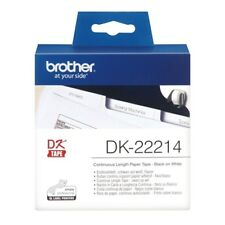 Brother DK Labels DK-22214 (12mm x 30.48m) Continuous Paper Tape (Black On