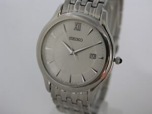 Seiko watch mens watches stainless steel kinetic movement SKK669