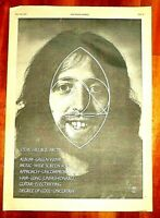 STEVE HILLAGE GREEN 1978 FULL PAGE PRESS ADVERT POSTER SIZE  37/26CM