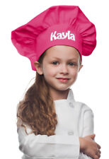 Hot Pink Personalized Kids Chef Hat made from High Quality Cotton/Twill Fabric