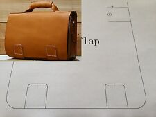 Leather Pattern DIY Designs Man Bag Paper Sweing Template Tools 9003