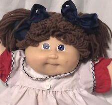1984 Cabbage Patch Doll. Brown Poodle Double Pony's, Ok Body Tag,Hm #3