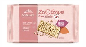 CRACKER INTEGRALI GALBUSERA ZEROGRANO SENZA GLUTINE RISO SOFFIATO CRACKERS 360 g