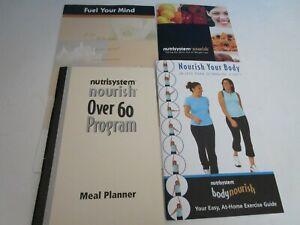 Brand New Nutrisystem Meal Planner Booklets Nourish-Over 60 Program- Your Body