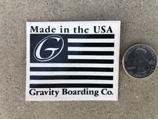 New Gravity Vintage Rare Skateboard Longboard Skate Surf Decal Sticker