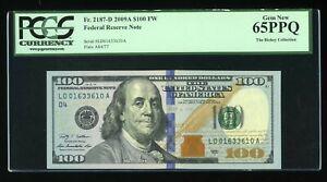 DBR 2009-A $100 RADAR Cleveland Gem Fr. 2187-D PCGS 65 PPQ Serial LD01633610A