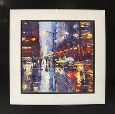 Radiant Glow of City Lights by Elena Bond (Framed Fine Art)