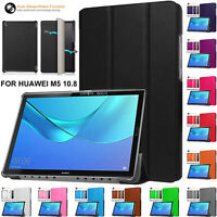 Leather Smart Magnetic Stand Flip Cover Case For Huawei MediaPad M5 10 (Pro)