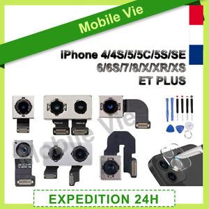CAMERA ARRIÈRE POUR IPHONE 4/4S/5/5C/5S/SE/6/6S/7/8/X/XR/XS ET PLUS + LENTILLE