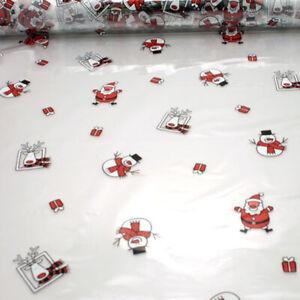 Christmas Cellophane Santa & Snowman Pattern 1M - 100 Meters Gift Wrapping