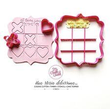 San Valentino Love Tic Tac Toe Gioco XO Formine Per Biscotti Cookie Cutter