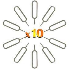 10 x Sim Tarjeta Eject Pin Tool Compatible con iPhone, Samsung Y All Smartphones
