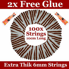 Tyre Puncture Repair String for Tubeless Tyres x100 with 2 Cement/Glue Tubes