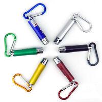 Mini 3 in 1 Laser Pen Pointer LED Flash Beam Light Flashlight UV Torch Keychain