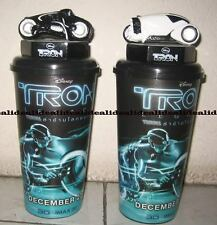 2x TRON LEGACY plastic Topper Cup Figure from theater, Glow in Dark