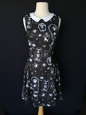 NWT HOT TOPIC DISNEY Nightmare before Christmas Collared Stretch goth Dress sz M