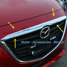 New Chrome Front Hood Molding Cover Trim for Mazda 3 M3 Axela 2014 2015 2016