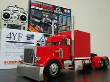 "Custom Built Tamiya 1/14 King Hauler Extend Sleeper Cab 29"" Frame + MFC-01 Light"
