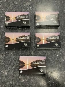 2015-2019-S U.S. MINT SILVER PROOF SETS! INCLUDEDS BOXES AND COAS! NR!