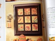 Fall Sunflower Farm House wood framed large collage Vintage Home Interiors Gifts