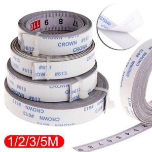 1-5M Self Adhesive Miter Saw Track Tape Measure Backing Metric Steel Ruler
