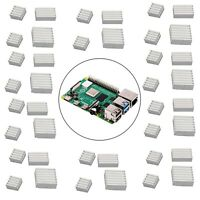 Aluminum Heatsink Radiator Cooler Kit with Sticker Raspberry Pi 4B Model B Z5