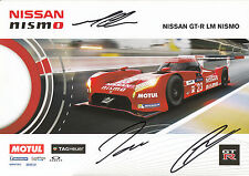 Chilton, Mardenborough, Pla Hand Signed Nissan Nismo Promo Card 2015 Le Mans.