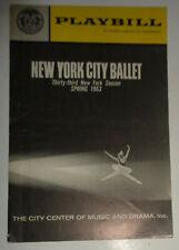NEW YORK CITY BALLET - PLAYBILL Spring 1963 - Firebird... Balanchine