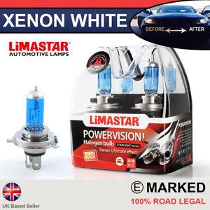 Xenon White H4 55/60w Halogen Bulbs 6000k (PAIR) 472 64193