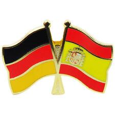 Freundschaftspin Deutschland - Spanien Anstecker Anstecknadel Fahne Doppel Pin