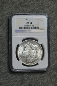 1904 Morgan silver Dollar. MS 64
